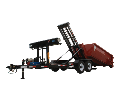 Galbreath Trail Hoist Light Duty Roll Off Trailer